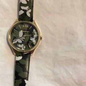 Michael Kors Butterflies leather watch